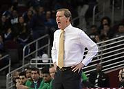 Feb 21, 2019; Los Angeles, CA, USA; Oregon Ducks head coach Dana Altman reacts in the second half against the Southern California Trojans at Galen Center. USC defeated Oregon 66-49.