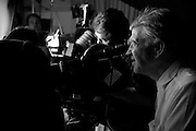 Director David Lynch on set.