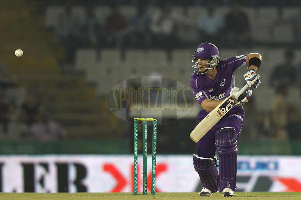 Hobart Hurricanes captain Tim Paine looks for a run during match 2 of the Oppo Champions League Twenty20 between the Kings XI Punjab and the Hobart Hurricanes held at the Punjab Cricket Association Stadium, Mohali, India on the 18th September 2014<br /> <br /> Photo by:  Shaun Roy / Sportzpics/ CLT20<br /> <br /> <br /> Image use is subject to the terms and conditions as laid out by the BCCI/ CLT20.  The terms and conditions can be downloaded here:<br /> <br /> http://sportzpics.photoshelter.com/gallery/CLT20-Image-Terms-and-Conditions-2014/G0000IfNJn535VPU/C0000QhhKadWcjYs