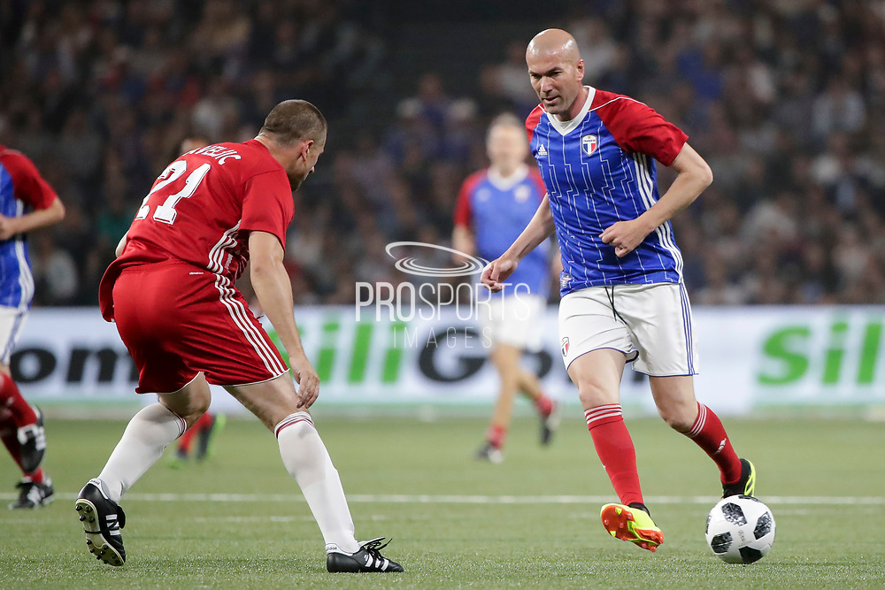 Zinedine Zidane (France 98), during the 2018 Friendly Game football match between France 98 and FIFA 98 on June 12, 2018 at U Arena in Nanterre near Paris, France - Photo Stephane Allaman / ProSportsImages / DPPI