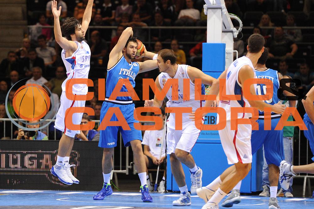 DESCRIZIONE : Siauliai Lithuania Lituania Eurobasket Men 2011 Preliminary Round Serbia Italia Serbia Italy<br /> GIOCATORE : Andrea Bargnani<br /> SQUADRA : Italia Italy<br /> EVENTO : Eurobasket Men 2011<br /> GARA : Serbia Italia Serbia Italy<br /> DATA : 31/08/2011 <br /> CATEGORIA : passaggio<br /> SPORT : Pallacanestro <br /> AUTORE : Agenzia Ciamillo-Castoria/G.Ciamillo<br /> Galleria : Eurobasket Men 2011 <br /> Fotonotizia : Siauliai Lithuania Lituania Eurobasket Men 2011 Preliminary Round Serbia Italia Serbia Italy<br /> Predefinita :