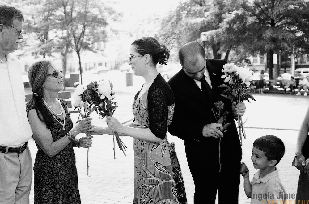 Callie Janoff and Randall Stoltzfus are married in a wedding at Brower Park, an urban public park near their home in Crown Heights, Brooklyn on June 13, 2010.