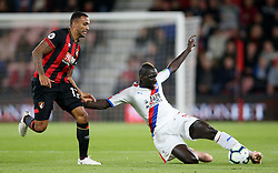 Bournemouth's Callum Wilson (left) and Crystal Palace's Mamadou Sakho battle for the ball during the Premier League match at the Vitality Stadium, Bournemouth.