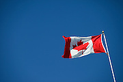 Canadian flag flying in Winnipeg on Canada Day 2009