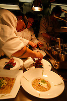 In the kitchen of Cafe Boulud, NY:<br /> <br /> Chef C
