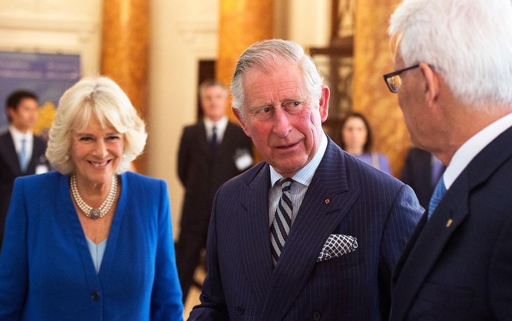 Britain's Prince Charles, Prince of Wales and Camilla, Duchess of Cornwall visit Canada House in Central London, Britain, 4 May 2016. The royal couple visit new refurbished rooms as continuing renovations take place at the Grade II listed building. EPA/WILL OLIVER