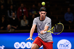 October 15, 2018 - Stockholm, SVERIGE - 181015 Tysklands Maximilian Marterer under fÅ¡rsta omgÅ'ngen av tennisturneringen Stockholm Open den 15 oktober 2018 i Stockholm  (Credit Image: © Simon HastegRd/Bildbyran via ZUMA Press)