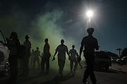 De Zuid Afrikaanse politie oefent op rellen ter voorbereiding op het WK 2010 in Zuid Afrika.