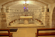 Crypt under the Church of St. Joseph, underneath cave dwelling of the Holy Family, Nazareth, Israel