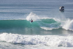 October 12, 2017 - Current World No.6 on the Jeep Leaderboard Adriano de Souza of Brazil advances to Round Three of the 2017 Quiksilver Pro France after defeating Josh Kerr of Australia in Heat 3 of Round Two at Hossegor. (Credit Image: © WSL via ZUMA Press)