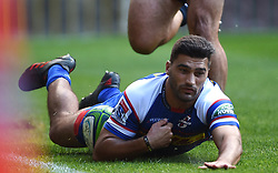 Cape Town-180427 Damien de allende scored the first try for Stomers  against Rebels in a Super 15 match played at Newlands stadium.photograph:Phando Jikelo/African News Agency/ANA