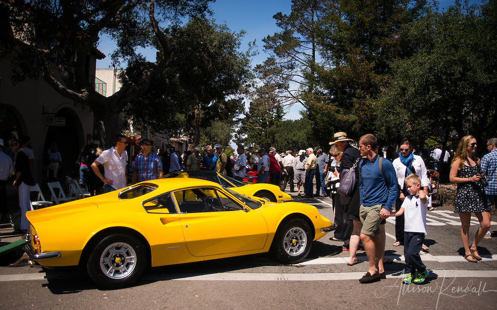 Dino 246 GT seen at the Carmel-by-the-Sea Concours on the Avenue during Monterey Car Week