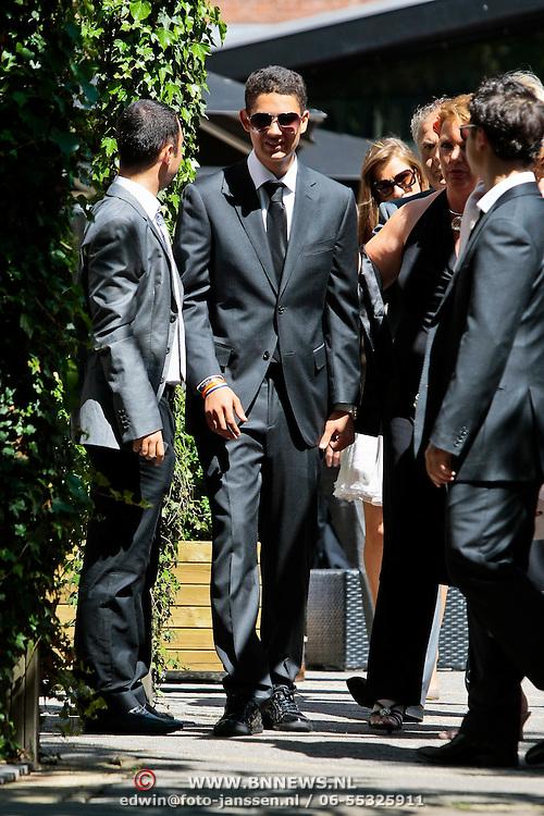 NLD/Amsterdam/20100603 - Huwelijk voetbaltrainer Frank Rijkaard en voormalig kindermeisje Stefanie Rucker, zoon Mitchel
