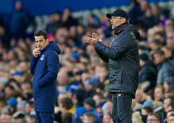 LIVERPOOL, ENGLAND - Sunday, March 3, 2019: Liverpool's manager Jürgen Klopp (R) and Everton's manager Marco Silva during the FA Premier League match between Everton FC and Liverpool FC, the 233rd Merseyside Derby, at Goodison Park. (Pic by Laura Malkin/Propaganda)