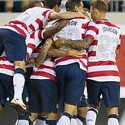 May 26 2012: The USA team celebrates after the first goal during the first half of play of the U.S. Men's National Soccer Team game against Scotland at Everbank Field in Jacksonville, FL. At halftime USA lead Scotland 2-1.