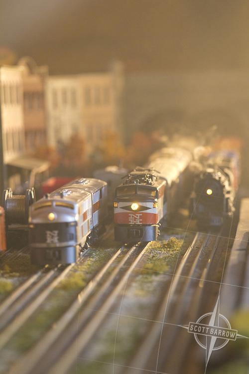 A working antique train set.