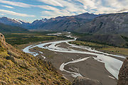 """The river that flows by El Chalten is called River of the turns or """"de las vueltas."""""""