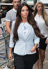 JUL 21 2014 Tulisa Contostavlos arrives at Crown Court this morning
