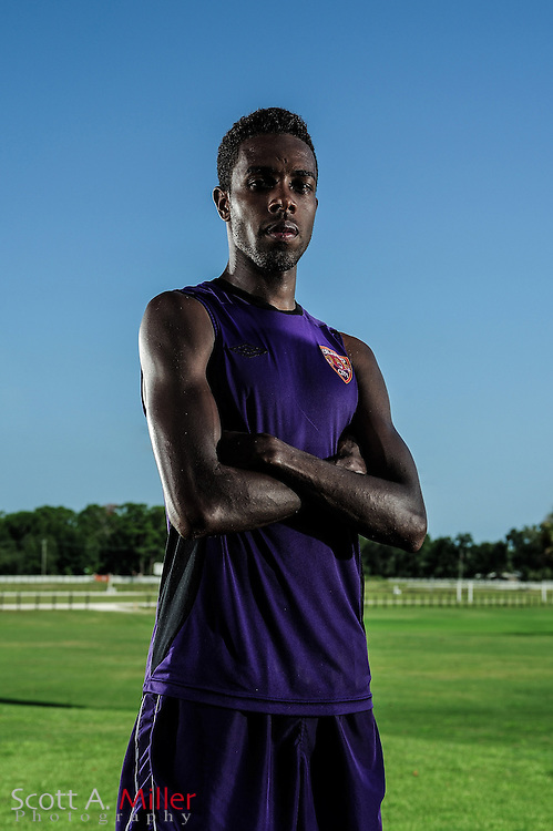 Portrait session with  Orlando City Lions forward Dennis Chin (15) at the Seminole Soccer Complex on August 24, 2012 in Sanford, Florida. ..©2012 Scott A. MIller..
