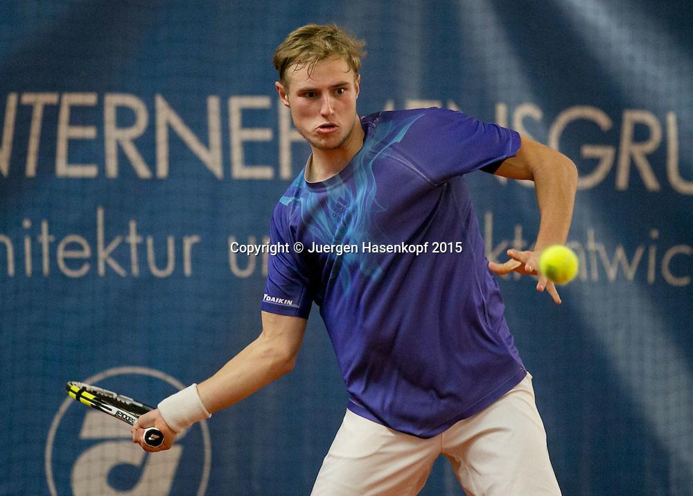 Daniel Baumann (GER)<br /> <br /> Tennis - Ismaning Open 2015 - ITF 10.000 -  TC Ismaning - Ismaning - Bavaria - Germany - 28 October 2015. <br /> &copy; Juergen Hasenkopf