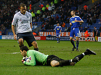 Photo: Steve Bond/Sportsbeat Images.<br />Leicester City v West Bromwich Albion. Coca Cola Championship. 08/12/2007. Keeper Martin Fulop saves at the feet of Roman Bednar