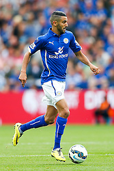 Riyad Mahrez of Leicester City in action - Photo mandatory by-line: Rogan Thomson/JMP - Mobile: 07966 386802 16/08/2014 - SPORT - FOOTBALL - Leicester - King Power Stadium - Leicester City v Everton - Barclays Premier League