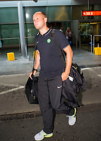 29/07/14 <br /> WARSAW - POLAND<br /> Haakon Lunov arrives in Poland ahead of Celtic's Champions League qualifier against Legia Warsaw.