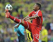 UEFA Champions League final football match between Borussia Dortmund and Bayern Munich at Wembley Stadium in London on May 25, 2013, Bayern Munich won the game 2-1 <br />David Alaba of Bayern Muenchen<br />(Photo by: Piotr Hawalej)
