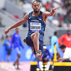Doha, IAAF, Leichtathletik, athletics, Track and Field, World athletics Championships 2019  Doha, Leichtathletik WM 2019 Doha, 27.09-06.10.2019, .Khalifa International Stadium Doha, Benjamin Compaore Frankreich  Dreisprung Männer, Fotocopyright Gladys Chai von  der Laage ..Photo by Icon Sport - Benjamin COMPAORE - Khalifa International Stadium - Doha (Qatar)