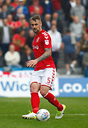 Charlton Athletic's Patrick Bauer during the EFL Sky Bet League 1 match between Gillingham and Charlton Athletic at the MEMS Priestfield Stadium, Gillingham, England on 16 September 2017. Photo by John Marsh.
