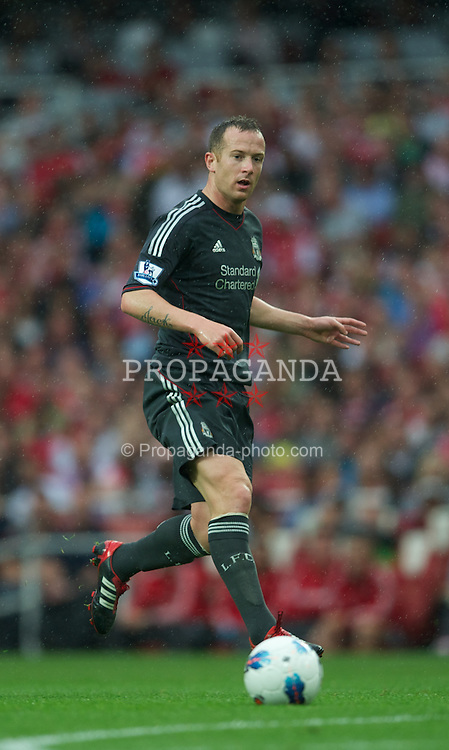 LONDON, ENGLAND - Saturday, August 20, 2011: Liverpool's Charlie Adam in action against Arsenal during the Premiership match at the Emirates Stadium. (Pic by David Rawcliffe/Propaganda)