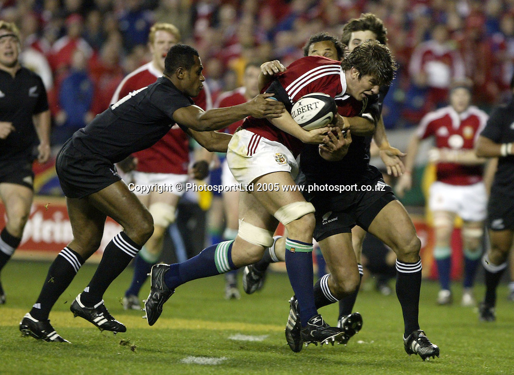 lions Donncha O'Callaghan in action during the rugby test match between the All Blacks and the Lions played at Eden Park, Auckland, 09 July 2005. Photo: Michael Bradley/PHOTOSPORT