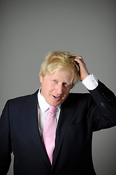 Portraits of Boris Johnson during the Mayoral Campaign April, 2012.  Photo By Andrew Parsons/i-Images.