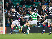 Dundee's Darren O'Dea blocks Celtic's Tomas Rogic's shot - Celtic v Dundee in the Ladbrokes Scottish Premiership at Celtic Park, Glasgow. Photo: David Young<br /> <br />  - © David Young - www.davidyoungphoto.co.uk - email: davidyoungphoto@gmail.com
