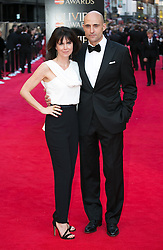 The Laurence Olivier Awards - Red Carpet Arrivals. Liza Marshall and Mark Strong attends The Laurence Olivier Awards at the Royal Opera House, London, United Kingdom. Sunday, 13th April 2014. Picture by Daniel Leal-Olivas / i-Images