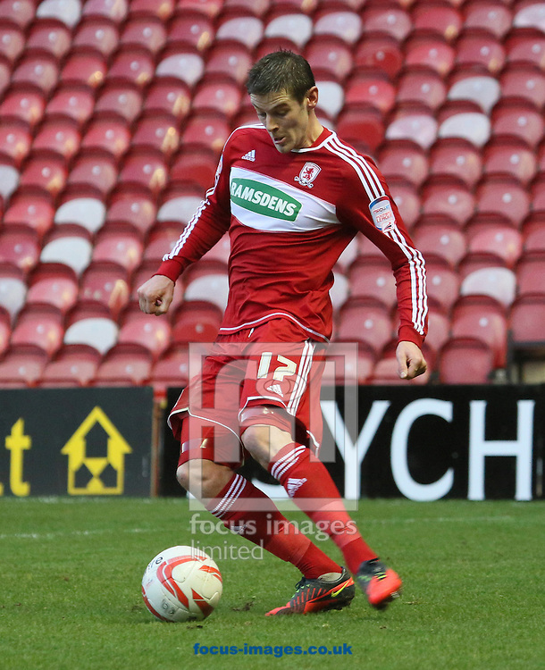 Picture by Paul Gaythorpe/Focus Images Ltd +447771 871632.12/01/2013.Lukas Jutkiewicz of Middlesbrough during the npower Championship match at the Riverside Stadium, Middlesbrough.
