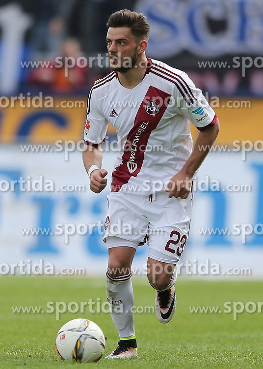 03.04.2016, Volksbank Stadion, Frankfurt, GER, 2. FBL, FSV Frankfurt vs 1. FC Nuernberg, 28. Runde, im Bild v.l. Tim Leibold (1. FC Nuernberg) // during the 2nd German Bundesliga 28th round match between FSV Frankfurt and 1. FC Nuernberg at the Volksbank Stadion in Frankfurt, Germany on 2016/04/03. EXPA Pictures &copy; 2016, PhotoCredit: EXPA/ Eibner-Pressefoto/ Voelker<br /> <br /> *****ATTENTION - OUT of GER*****