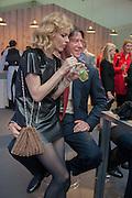 Eva Herzigova; Gregorio Marsiaj, The Vogue Festival 2012 in association with Vertu- cocktail party. Royal Geographical Society. Kensington Gore. London. SW7. 20 April 2012.