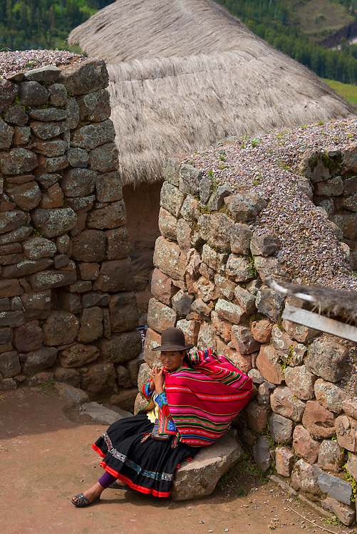 South America, Andes, Peru,Písac o Pisac or P'isaq is a Peruvian village in the Sacred Valley