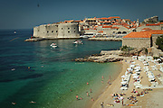 Overall view of the town of Dubrovnik in southern Croatia