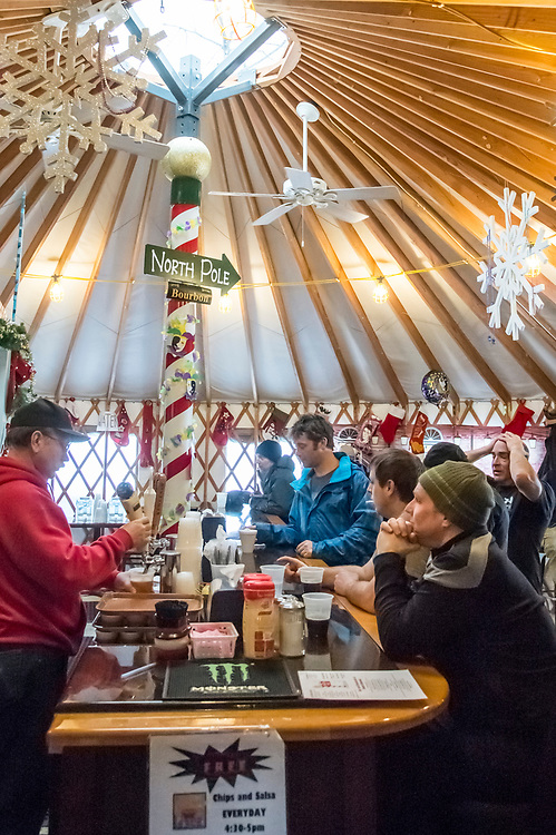 The North Pole bar at Mount Bohemia ski area on Michigan's Keweenaw Peninsula.