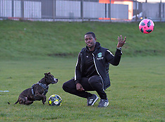 Football star meets cat and dog home longest resident, Edinburgh, 19 December 2018