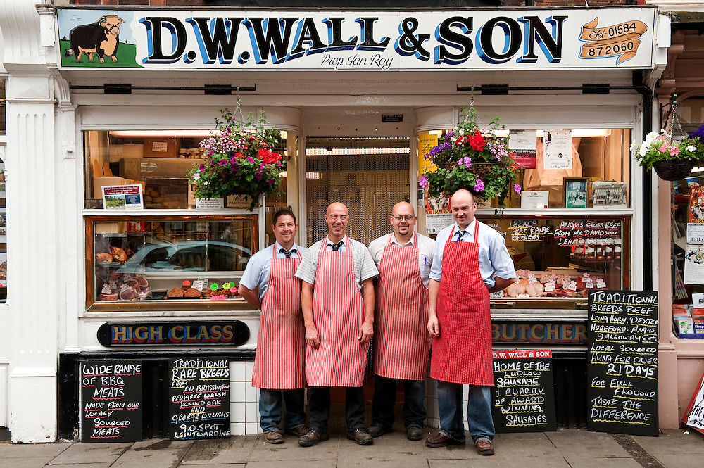 D.W.Wall butchers, Ludlow, Shropshire