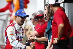 March 11, 2018 - St. Petersburg, Florida, United States of America - March 11, 2018 - St. Petersburg, Florida, USA: Tony Kanaan (14) gets introduced to the crowd for the Firestone Grand Prix of St. Petersburg at Streets of St. Petersburg in St. Petersburg, Florida. (Credit Image: © Justin R. Noe Asp Inc/ASP via ZUMA Wire)