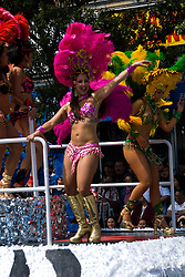 California: San Francisco Carnaval festival parade in the Mission District. Photo copyright Lee Foster. Photo # 30-casanf81140b