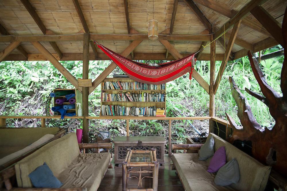 "Relaxing at the ""happy hour"" deck at Finca Bellavista"
