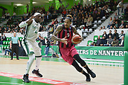 Julian Gamble of Telekom Baskets Bonn and Johan Passave Ducteil of Nanterre 92 team during the Champions League, Group D, basketball match between Nanterre 92 and Telekom Baskets Bonn on January 24, 2018 at Palais des Sports Maurice Thorez in Nanterre, France - Photo I-HARIS / ProSportsImages / DPPI