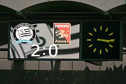 27.11.2011, UPC Arena, Graz, AUT, 1. FBL, SK Puntigamer Sturm Graz vs FC Trenkwalder Admira, im Bild Zwischenstand auf der Anzeigetafel, EXPA Pictures © 2011, PhotoCredit: EXPA/ Erwin Scheriau
