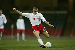 CARDIFF, WALES - WEDNESDAY FEBRUARY 9th 2005: Wales' Craig Bellamy in action against Hungary during the International Friendly match at the Millennium Stadium. (Pic by Jason Cairnduff/Propaganda).