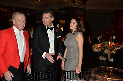 LAURENT FENIOU and GENEVIEVE GAUNT  at the 26th Cartier Racing Awards held at The Dorchester, Park Lane, London on 8th November 2016.